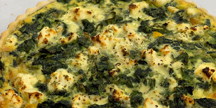 Spinach & Feta Quiche (small)